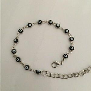 Jewelry - Dark Blue Evil Eye Silver Bracelet Newwwwwww