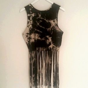 Trippp NYC Fringed Tank Top