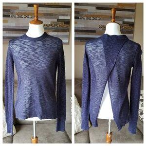 Jennifer Lopez Glittery Blue Open Back Sweater