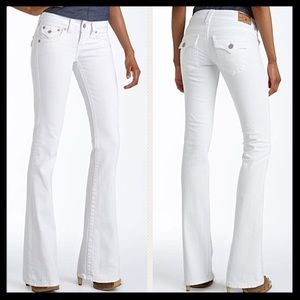 True Religion Becky Bootcut Jeans in White