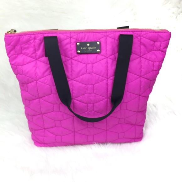 kate spade Handbags - Kate Spade Bon Shopper Tote Pink Quilted Purse