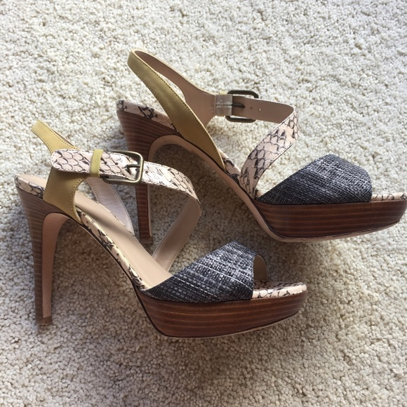bdb13d6380e0 J. Crew Shoes - J. Crew Collection Isla leather snakeskin sandals