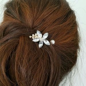 Accessories - Wedding hair pin crystal Flower pearl decoration