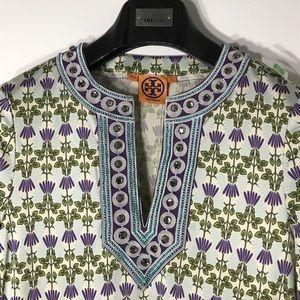 Tory Burch Embellished Print Tunic Dress
