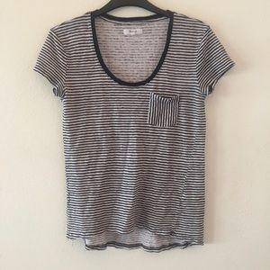 Madewell Linen Striped pocket Shirt