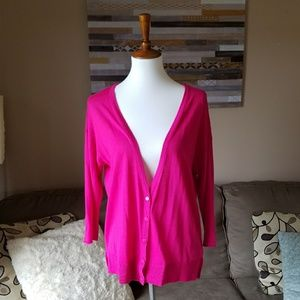 Mossimo Hot Pink Slouchy Cardigan