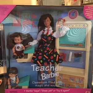 Other - Hispanic Teacher Barbie Gift Set