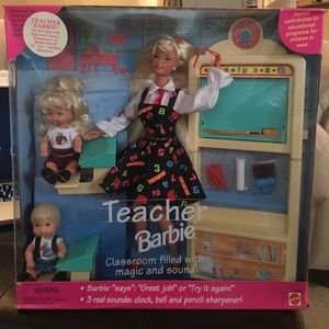 Other - Teacher Barbie Blonde Doll Set 1995