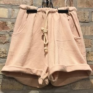 Camel colored lounge shorts