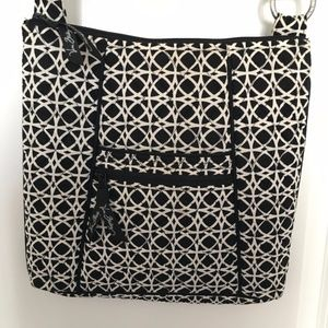Vera Bradley Hipster in Black and White Circles
