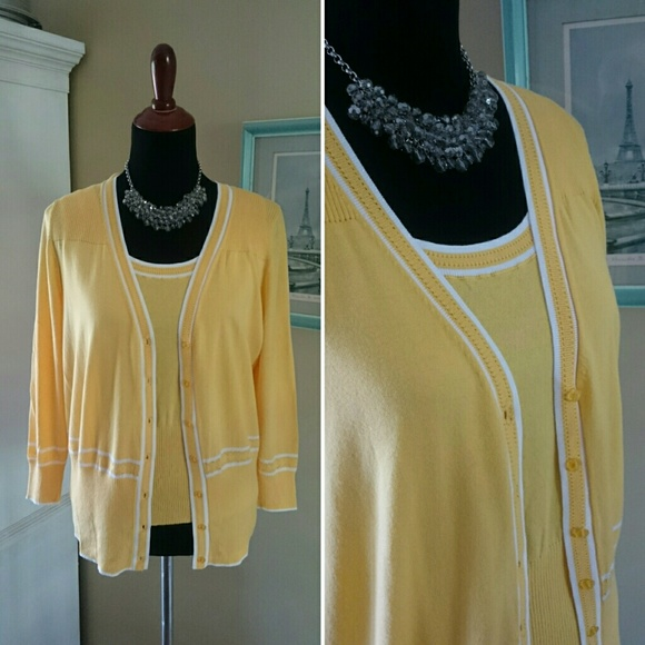 70% off JG Hook Sweaters - Pretty Yellow Sweater Set from ...