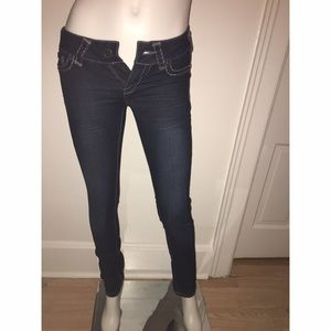 Maurices Dark Wash Jeggings Sz XS