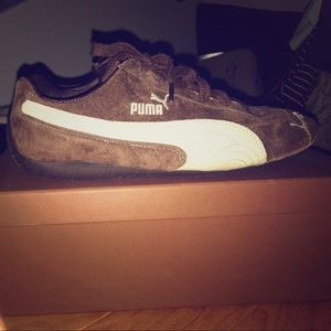 Brown Suede Puma Speed Cats