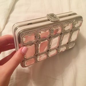 Handbags - Silver Rhinestone Clutch