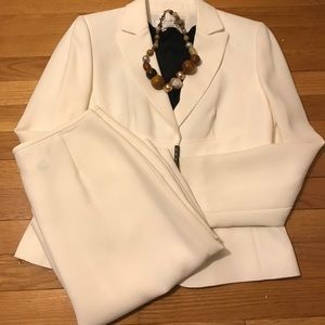 Tahari Off White Skirt Suit
