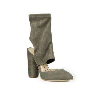 Shoes - Olive Slide On Pumps