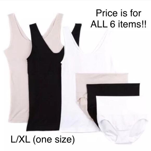 96535c8541 Yummie 6 Piece Seamless Shapewear L XL (one size)