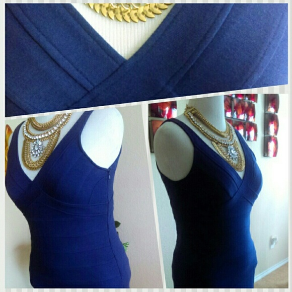 Lush Dresses - CLEARANCE⬇Lush Blue Fitted Purple Blue Dress