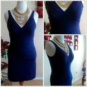 Lush Dresses - CLEARANCE⬇Lush Blue Fitted Purple Blue Dress