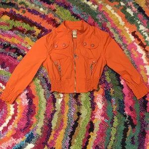 Paris Blues Burnt Orange Crop Jacket
