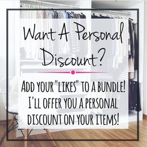 I'll send you a Personal Offer!👩🏻🙌🏻💕