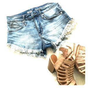 High Waisted Jean Shorts Size 0/25