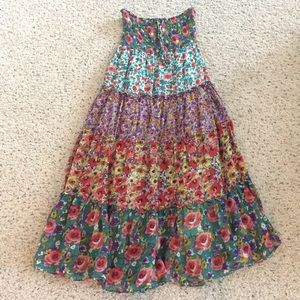 Floral cotton maxi skirt