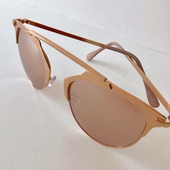 Eloquii Accessories - Rose Gold Mirrored Sunglasses