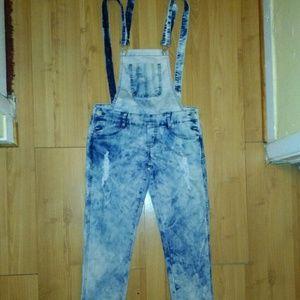 Pants - Jean Distressed Jumpsuit