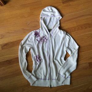 Sweaters - Eddie Bauer sport hooded cotton zip sweater
