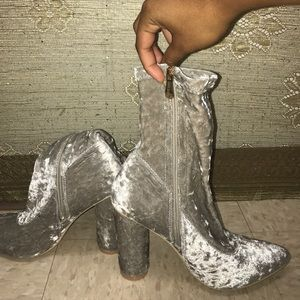 """Shoes - """" a bit of grey """"  fall boots"""