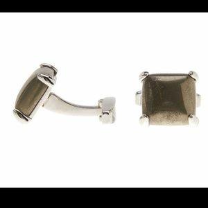 New Kendra Scott pyrite cufflinks Emmerson silver