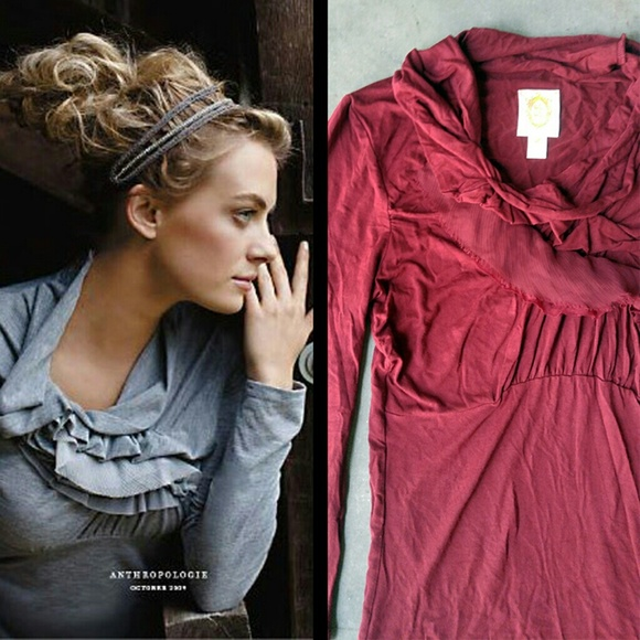 a8b04ffd3800a Anthropologie Tops | Ric Rac Red Wind Rippled Tee | Poshmark