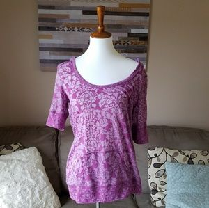 Maurices Purple Hooded Sheer Top