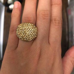 Jewelry - Gold rhinestone statement ring