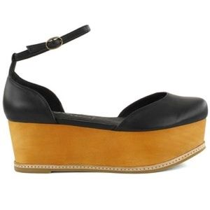 Jeffrey Campbell sue bee flat platform sandals 8