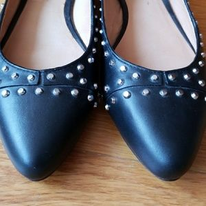 United Nude Shoes - United Nude flat studded pumps.