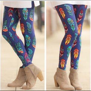 Pants - Feather Print Leggings