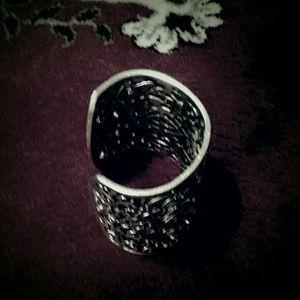 Anthropologie Silver Cuff Bracelet
