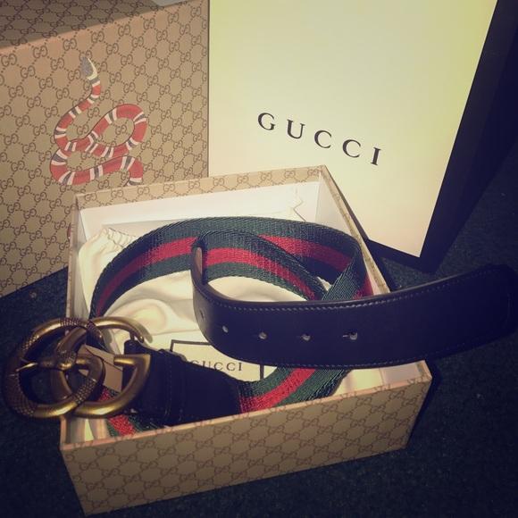 46b4b5db2fc Nylon Web Belt with double G buckle. NWT. Gucci