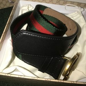 1c6832d3080 Gucci Accessories - Nylon Web Belt with double G buckle