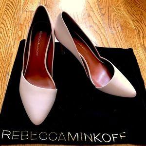 "Rebecca Minkoff ""Brie"" D'Orsay Pumps in Blush Pink"