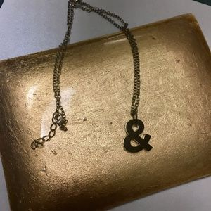 Jewelry - &&& Ampersand Necklace &&&