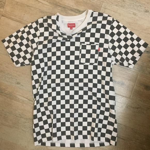 d5f54b2abebd Supreme Checker Print T-shirt. M_5999c1d599086a8a3f0bbb46