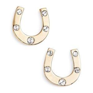 NWT Kate Spade Horseshoe Good Luck Earrings