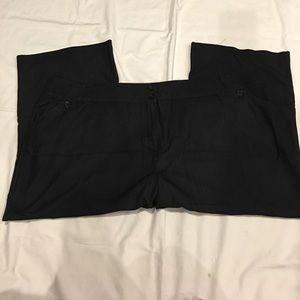 Pants - Plus Size black crop/ankle slacks - Size 34