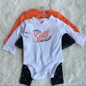 Carter's 3-piece 3m infant Baby outfit Halloween