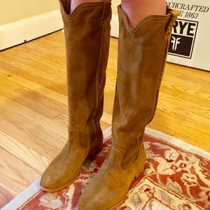 Authentic FRYE Cara Roper Tall Suede Boots