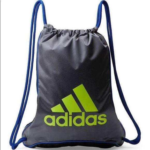 5c79d09a41bf 🌻NEW🌻 Adidas Grey & Black Bolt II Sackpack NWT