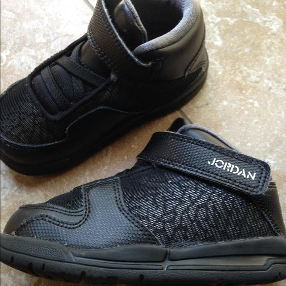 Air Jordan High Top Sneakers - (Velcro) Black